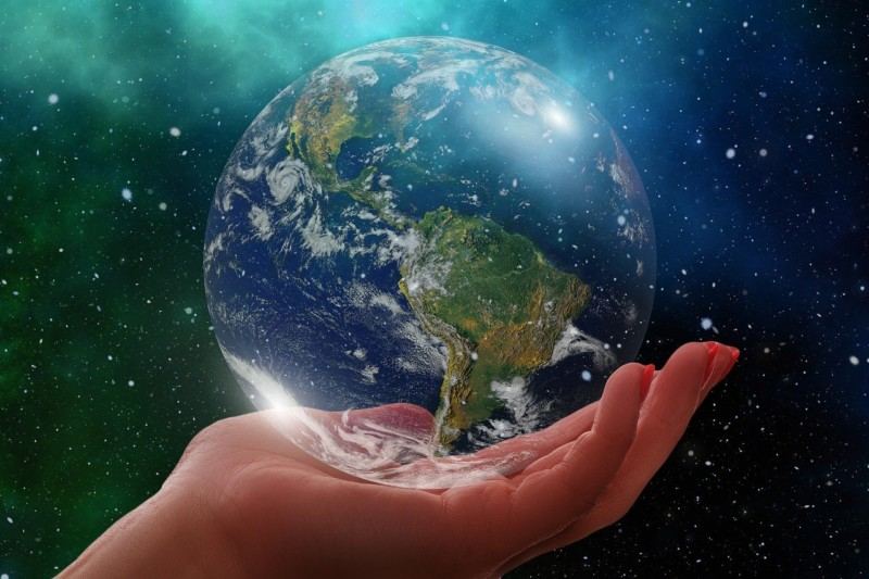 earth in a hand - Make Earth Day Every Day (With Spin Master)