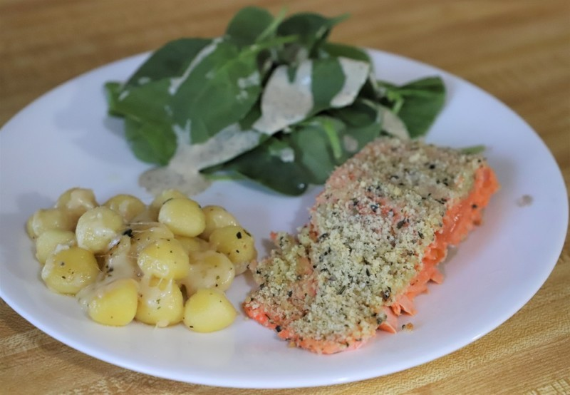 baked salmon with italian herb crust