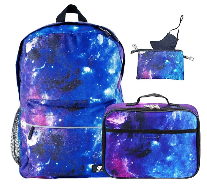 Fenrici Back To School Combo - Backpack, Lunch Pail, Mask, & Mask Case