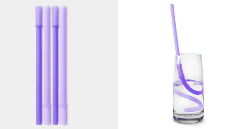 Silikids - REUSABLE CONNECTABLE SILICONE SILISTRAW, 4PK