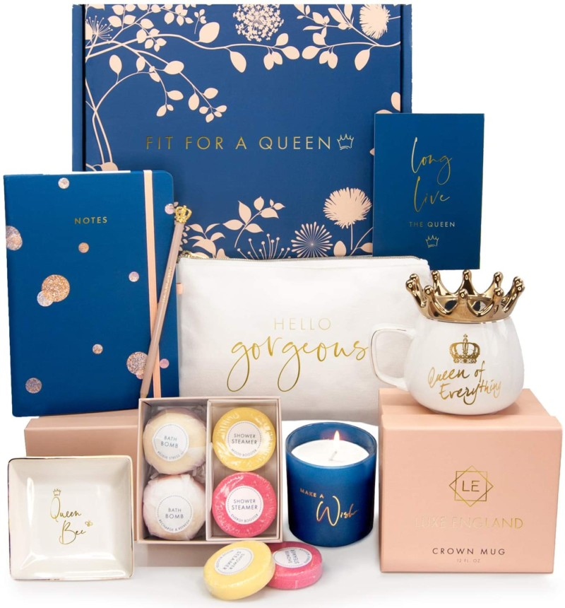 Pamper The Women In Your Life - Luxe England Queen Gift Box + SoftTouch Foot Peel