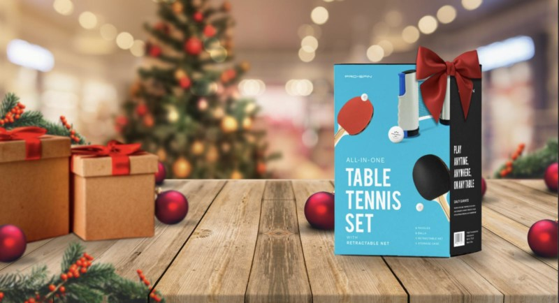 Pro Spin: 4-Player All-in-One Portable Table Tennis Set